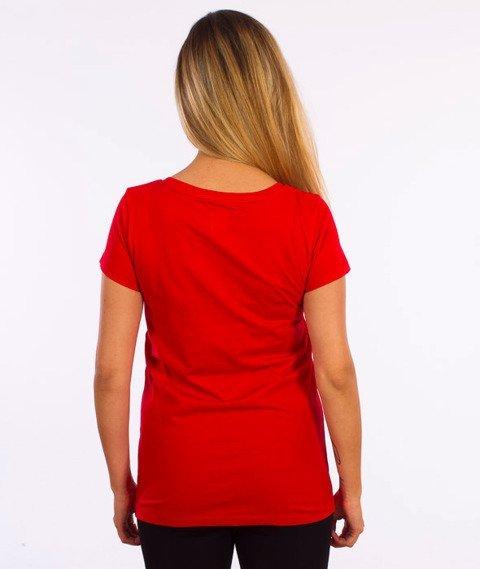 Prosto-Aero T-shirt Damski Czerwony