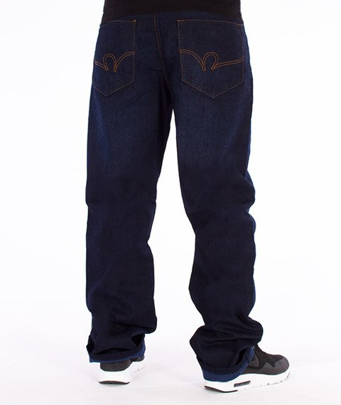 RocaWear-Dark Night Blue Loose Fit Spodnie Jeans R00J9914A 858