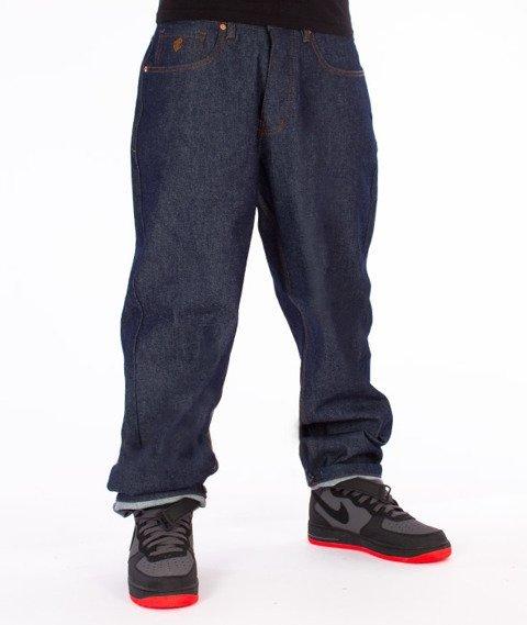 RocaWear-Raw Indigo Baggy Fit Spodnie Jeans R00J9969E 821