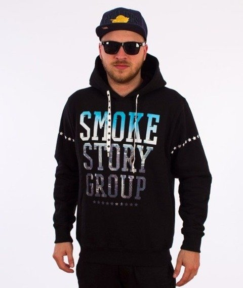 SmokeStory-City Photo Bluza Kaptur Czarna