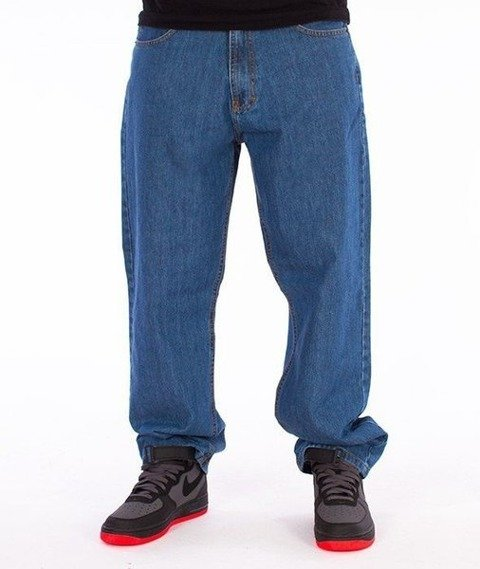 SmokeStory-Smoke Tag Baggy Jeans Light Blue