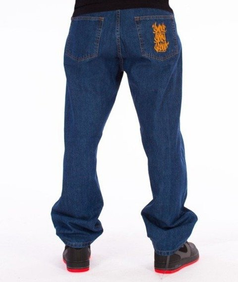 SmokeStory-Smoke Tag Baggy Jeans Medium Blue