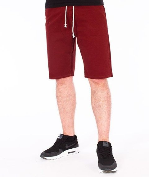 SmokeStory-Szorty Chino Guma Krótkie Spodnie Bordowe