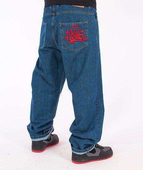 SmokeStory-Tag Baggy Jeans Medium Blue