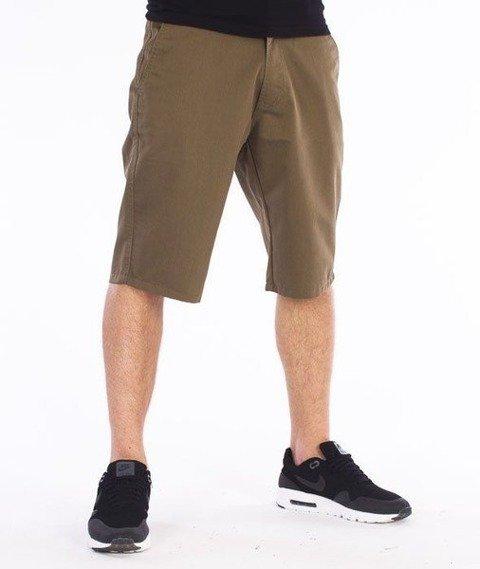 SmokeStory-Tkanina Krótkie Spodnie Beżowe