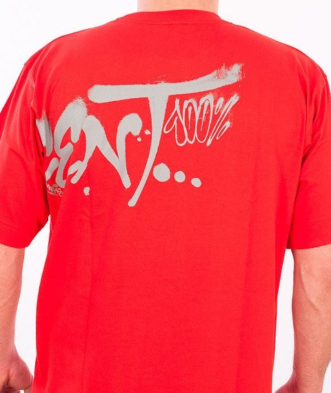 Stoprocent-Fatcap T-Shirt Czerwony
