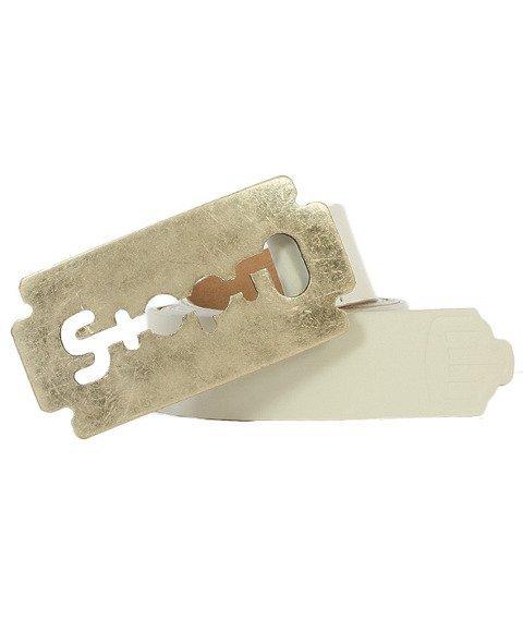 Stoprocent-Razor Pasek Biały/Srebrny