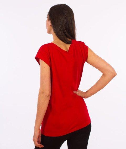 Stoprocent-Tagirl T-Shirt Damski Czerwony