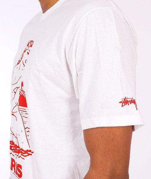 Stussy-Aloha Cities Tee White/Red