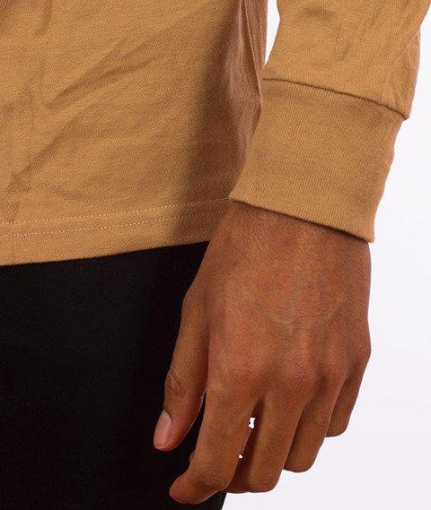 Stussy-Basic Stussy Longsleeve Light Brown