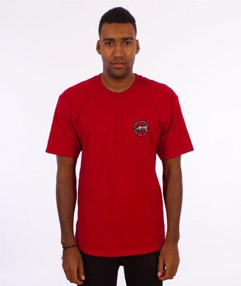 Stussy-International Dot T-Shirt Dark Red