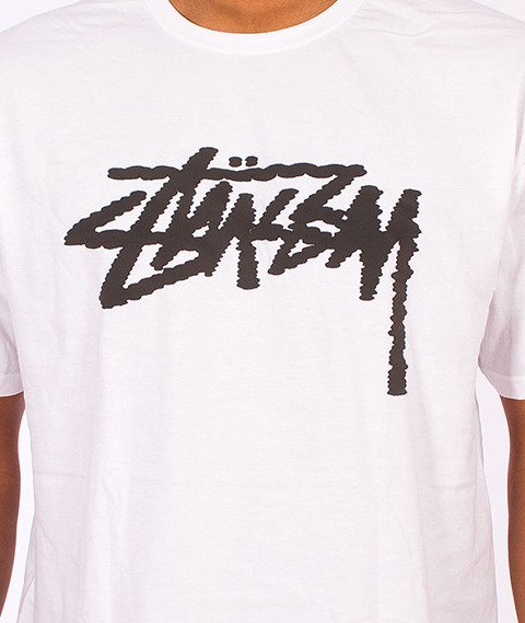 Stussy-Label Stock Tee White