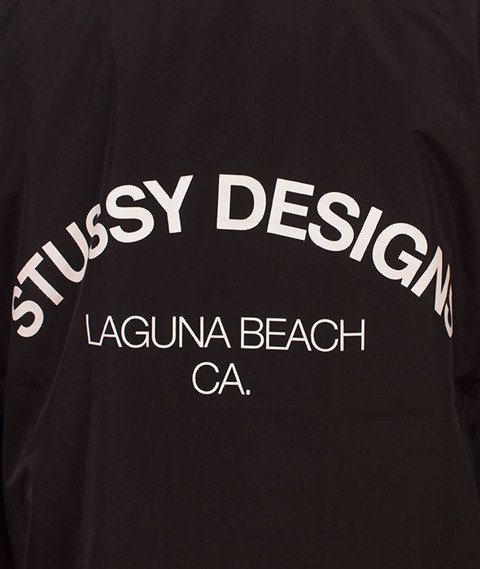 Stussy-Long Hooded  Coach Jacket Kurtka Black