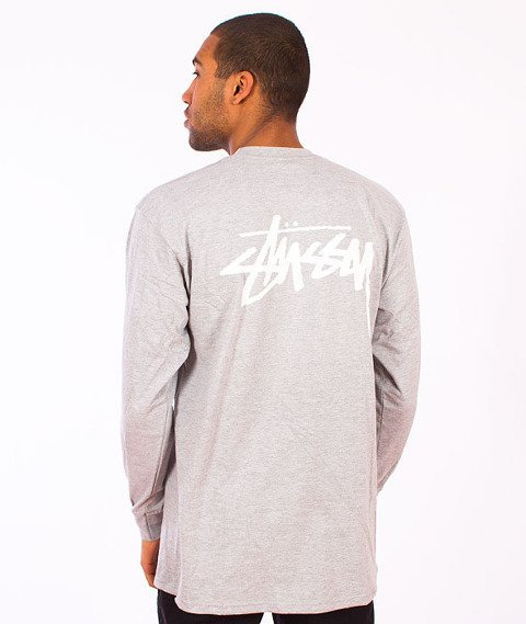 Stussy-Stock Longsleeve Grey Heather