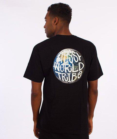 Stussy-Swt Globe T-Shirt Czarny