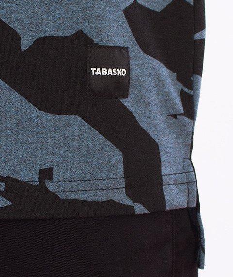 Tabasko-Crack T-Shirt Czarny/Niebieski