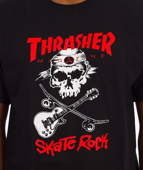 Thrasher-Skate Rock T-Shirt Czarny