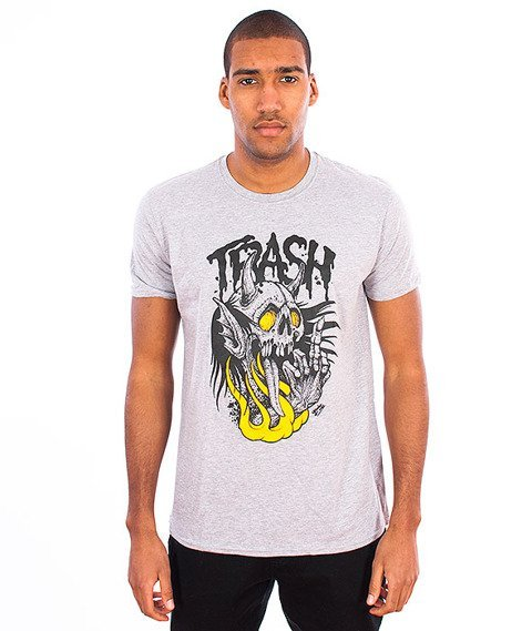 Trash-Fuck Off T-shirt Szary