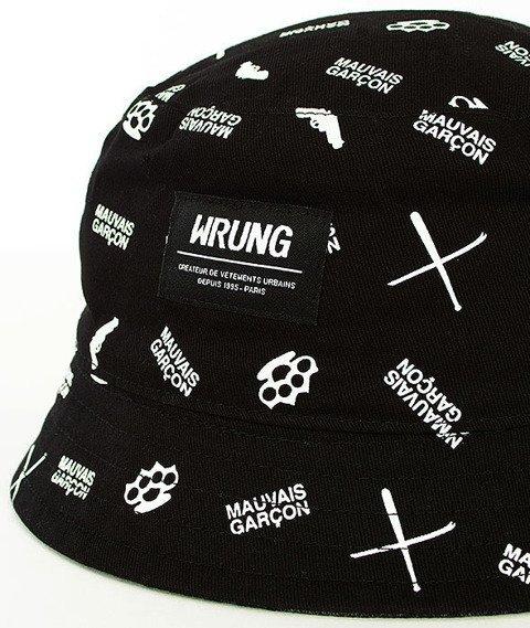 Wrung-Bright Criminel Bucket Hat Dwustronny Czarny