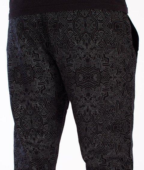 Wrung-Tribal Spodnie Dresowe Czarne