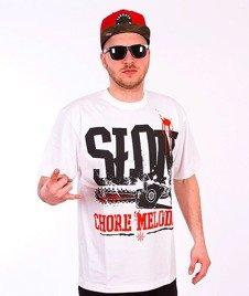 Brain Dead Familia-Chore Melodie T-shirt Biały