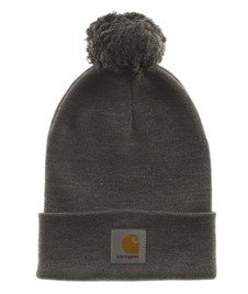 Carhartt-Bobble Watch Hat Czapka Zimowa Dark Grey Heather