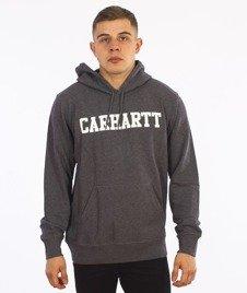 Carhartt-Hooded College Sweat Grey Heather/White