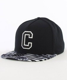 Cayler & Sons-Cee Flagged Cap Snapback Black/White