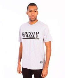 Grizzly-OG Stamp Logo T-Shirt  Grey