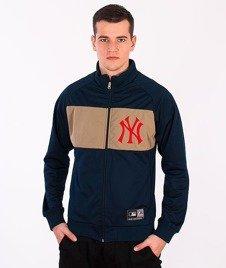 Majestic-New York Yankees Crewneck Zip Navy