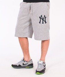 Majestic-New York Yankees Short Desta Fleece Grey