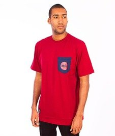 Mass-Pocket Signature T-shirt Bordowy