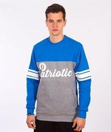 Patriotic-Shoulder Bluza Szara/Niebieska