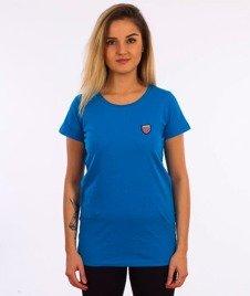 Prosto-Dive T-shirt Damski Niebieski
