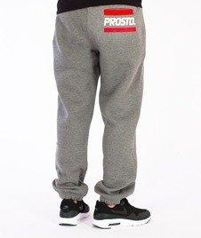 Prosto-Pocket Logo Spodnie Dresowe Grafitowe