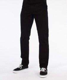SmokeStory-Chino Slim Spodnie Z Wywinięciem Czarne