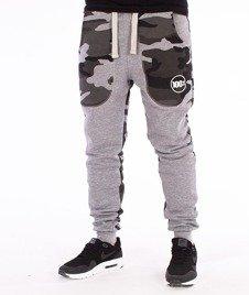 Stoprocent-Cowboy Camuback Spodnie Dresowe Szare/Camo