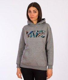 Vans-Classic Pullover Boys/Girls Hoodie Concrete Heather/Stanton Floral
