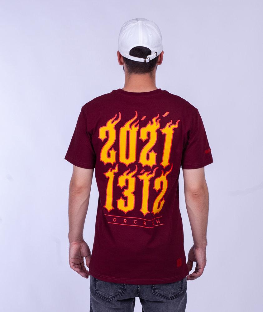 Biuro Ochrony Rapu 1312 T-Shirt Bordowy