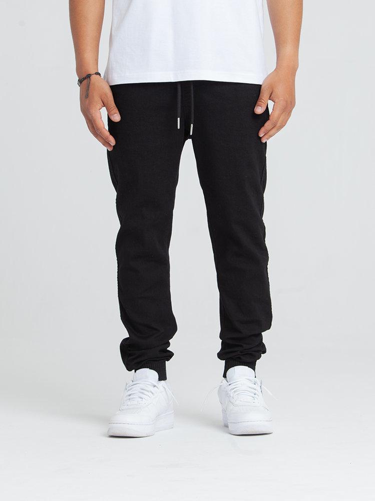 Biuro Ochrony Rapu SKIN Spodnie Jogger Jeans Guma Czarny