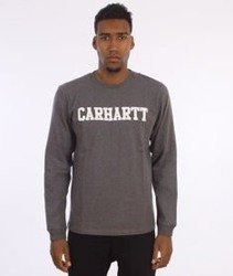 Carhartt-College Longsleeve  Dark Grey Heather/White