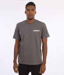 Carhartt-College Script LT  T-Shirt Dark Grey Heather/White