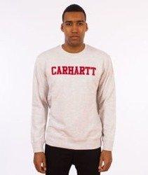 Carhartt-College Sweatshirt Bluza Ash Heather/Chili