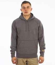 Carhartt-Hooded Chase Sweat Grey Heather