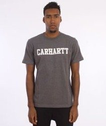 Carhartt- S/S College T-Shirt Dark Grey Heather/White