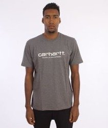 Carhartt-Wip Script T-Shirt  Dark Grey Heather