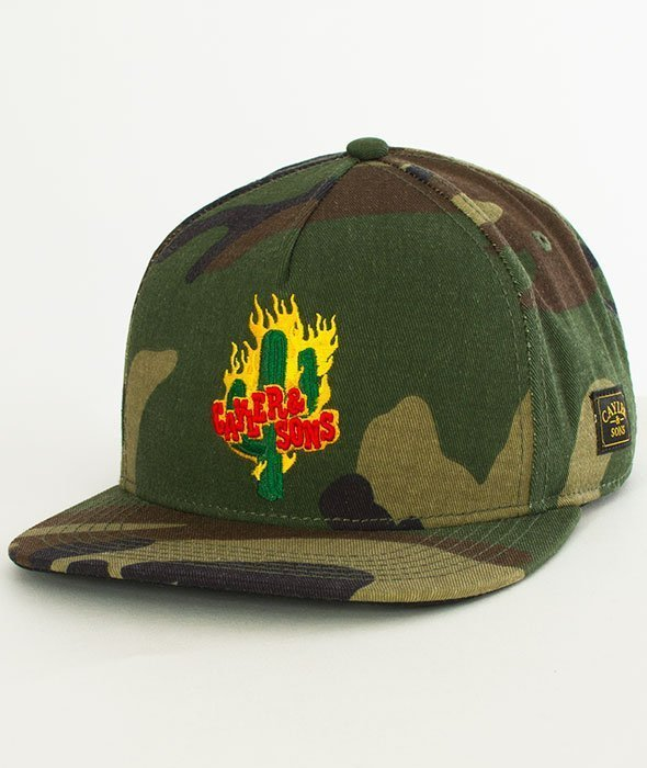 Cayler & Sons-WL Turn Up Snapback Woodland/Mc