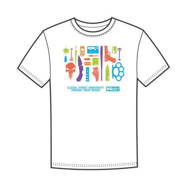 DIIL EQUIPMENT T-Shirt Biały