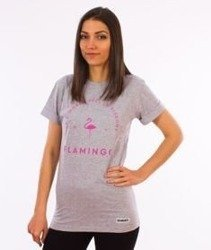 Diamante-Flamingo T-shirt Damski Szary