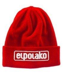 El Polako-Classic Czapka Zimowa Wywijana Czerwona